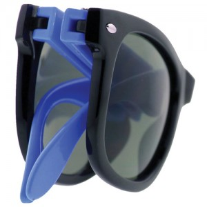 Collapsible Frame Retro Sunglasses - FOLDED-1