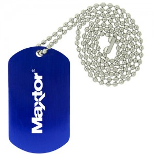Dog Tag Necklace - Blue