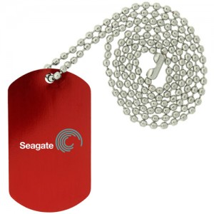 Dog Tag Necklace - Red