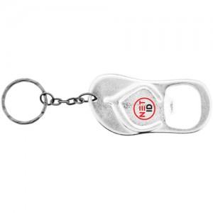 Sandal Shaped Bottle Opener Keychain - Silver