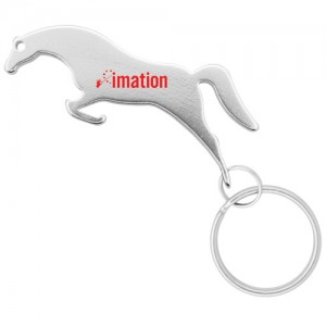 Jumping Horse Keychain - Silver