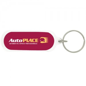 Oval Acrylic Keychain - B