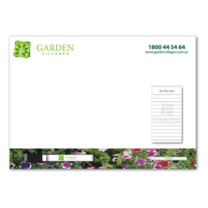 Custom A3 Magnetic Whiteboard with Notepad