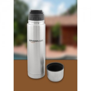Stainless Steel Bullet Thermal Flask - Open