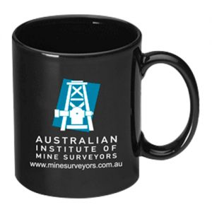 Black Can Mug with Logo