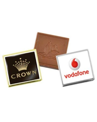 Mini Custom Chocolate Square with Sticker is a great promotional product