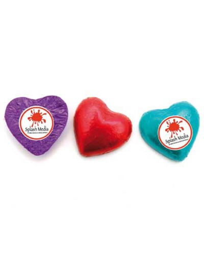 Promotional Chocolate Hearts w Sticker
