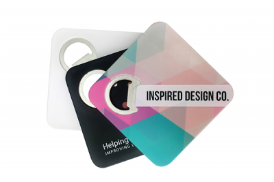 Digital print bottle opener coaster