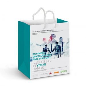 Medium Laminated Paper Carry Bag - Full Colour